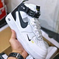 Nike Air Force 1 07 LV8 Utility White Black - Best Deal Online