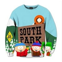 Hoodies Anime South Park 3D New Sweatshirt Fashion Brand New Casual Slim Fit Mens Hoodies Cute Childhood Top Cloth