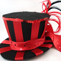 The Ringmaster Red & Black Satin Stripe Burlesque by angelyques