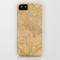 Civil War Washington D.C. Map iPhone & iPod Case by Catherine Holcombe