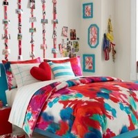 Teen Vogue Bedding, Twin Poppy Art Floral Decorative Bedding