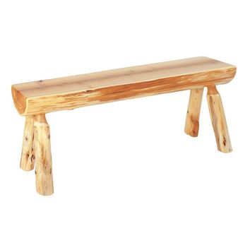 "Traditional Cedar Log 36"" Bench"