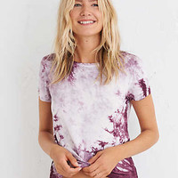 Aerie Real Soft® Easy Tee , Deep Plum