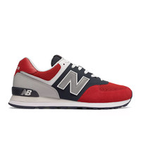 New Balance - 574 Pebbled Sport (ML574SRF) - Team Red w/ Pigment