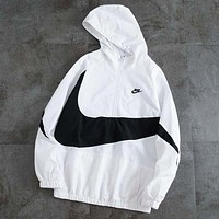 NIKE New fashion letter hook print long sleeve coat windbreaker