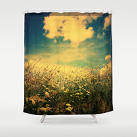 Counting Flowers Like Stars - Color Version Shower Curtain by Olivia Joy StClaire