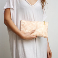 40% off SNAA/ Pastel snake leather clutch/ make up bag - ready to ship - Spring Sale