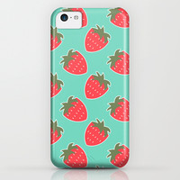Strawberry Seamless Pattern iPhone & iPod Case by Ppolecho | Society6