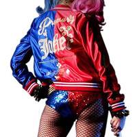 Harley Quinn Suicide Girls Satin Jacket