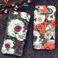 Luminous Skull iPhone 7 6 6s Plus Case -0320