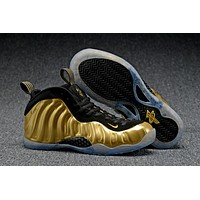 Air Foamposite One Gold/Black Sneaker Shoes 40-47