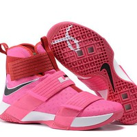 HCXX Nike Men's Lebron Soldier 10 Basketball Shoes Pink 40-46