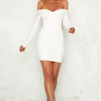 Gigabyte Dress White