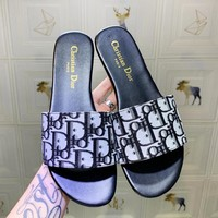 DIOR New fashion more letter print shoes slippers women