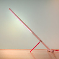 Peg-Lamp: LED Table Lamp with Colored Fabric Cord.