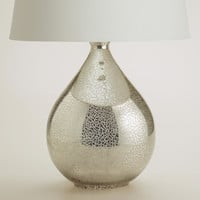 Martina Aged Mirror Table Lamp Base - World Market