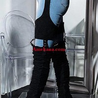 Delina Strap Thigh High Boots