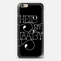Hello My Baby (black and white) iPhone 6 case by Tracey Coon | Casetify