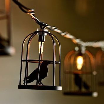 Caged Crow String Lights