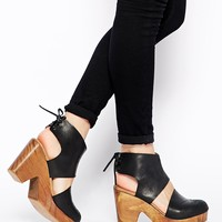 Free People Desert Gold Caged Shoes at asos.com