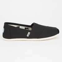 Toms Womens Canvas Classic Slip-Ons Black  In Sizes