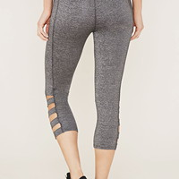 Active Cutout Capri Leggings | Forever 21 - 2000168479