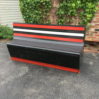 1930s Bowling Alley Bench, Large Maple Bowling Alley Bench, Wood Bench, Bar Restaurant Furniture