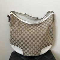 DCCKG2C Gucci Monogram Ivory Shoulder Bag