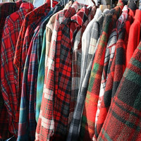 5 Vintage Mystery Flannel Shirts Oversized All Sizes