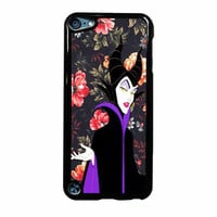 Malficient Disney Floral Vintage iPod Touch 5th Generation Case