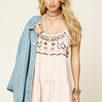 Embroidered Babydoll Dress