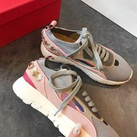 Valentino EMBROIDERED LOW-TOP SNEAKER