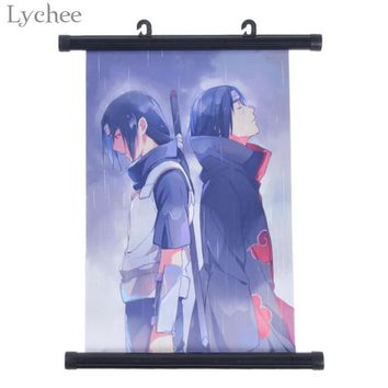 Lychee Japanese Anime NARUTO Itachi Uchiha Wall Poster Canvas Scroll Painting Home Wall Print Modern Art Decor Poster