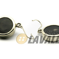 Earrings with cow horn and german silver