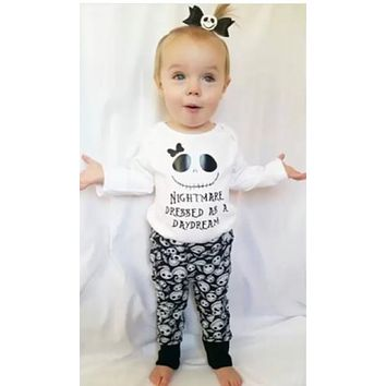 2016 autumn style infant clothes baby boy clothing sets fashion cotton printed newborn 2pcs suit baby girl clothes