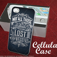 Not All Those Who Wander Are Lost Baggins for iphone, samsung galaxy and ipod touch cases