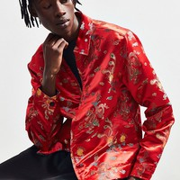 UO Brocade Zip Shirt | Urban Outfitters