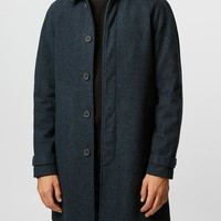 Blue Wool Blend Mac - Up To 40% Off Coats - Offers