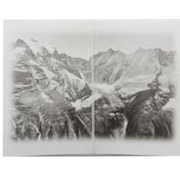 mountains note cards