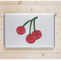 """Cherry Kawaii Die Cut Sticker // Cute Japanese // Computer & Tablet XL Size // 8"""" // Perfect For Indoor, Outdoor, Laptop, Car"""