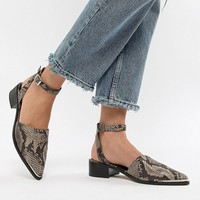 ASOS DESIGN Mamba pointed flat shoes at asos.com