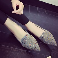 Fashion Cool Diamond  Flats Shoes