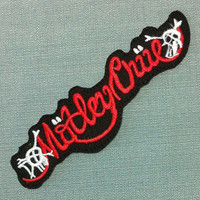 Motley Crue Embroidered Patch Iron on Badge Sew Applique Ecusson DIY Supplies Hard Rock Heavy Metal Glam USA Music Band Logo Group Jacket