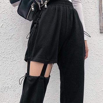 New Women's Irregular Hollow Casual Pants
