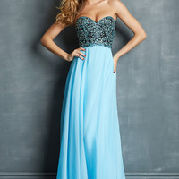 Strapless Night Moves Prom Dress