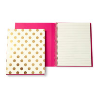 kate spade new york: spiral notebook - gold pavilion
