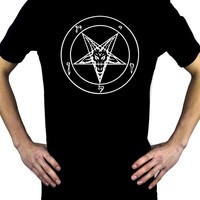 White Pentagram Sabbatic Baphomet Men's T-Shirt Occult Clothing