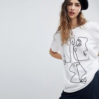 Reclaimed Vintage Inspired Face Graphic Print T-Shirt at asos.com