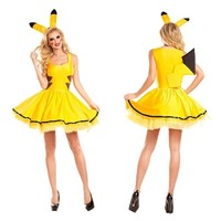 halloween costumes for women sexy plus size  pikachu costume Cosplay Christmas Party fancy Dress Animal adult CarnivalKawaii Pokemon go  AT_89_9