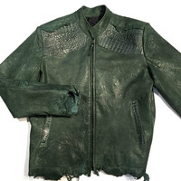 G-Gator Alligator/Lambskin Rough Cut Leather Jacket